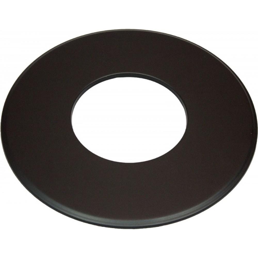 Grote rozet 150 mm zwart voor enkelwandige kachelpijp for Kachelglas