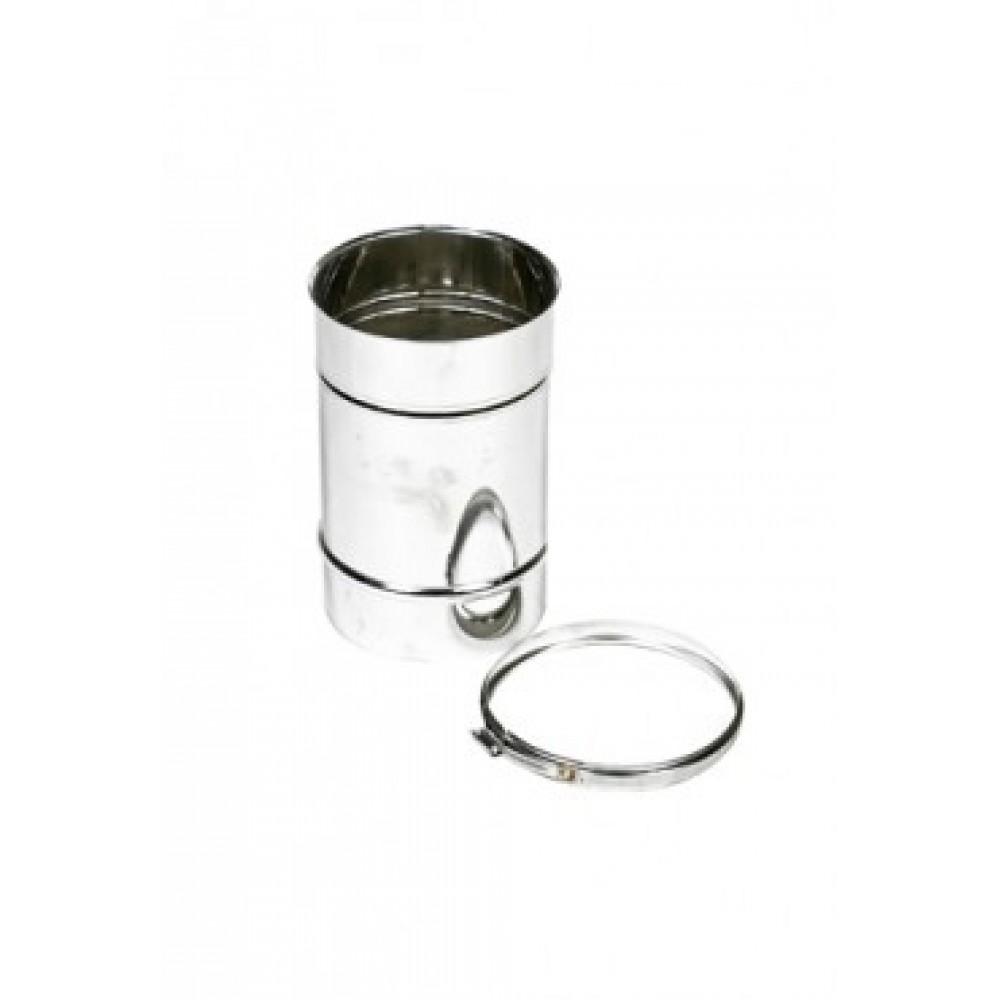 Enkelwandig rvs 200 mm 25 cm lengte for Kachelglas