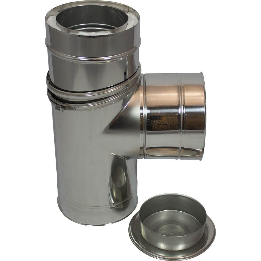Holetherm 200 250 t stuk 90 met deksel for Kachelglas