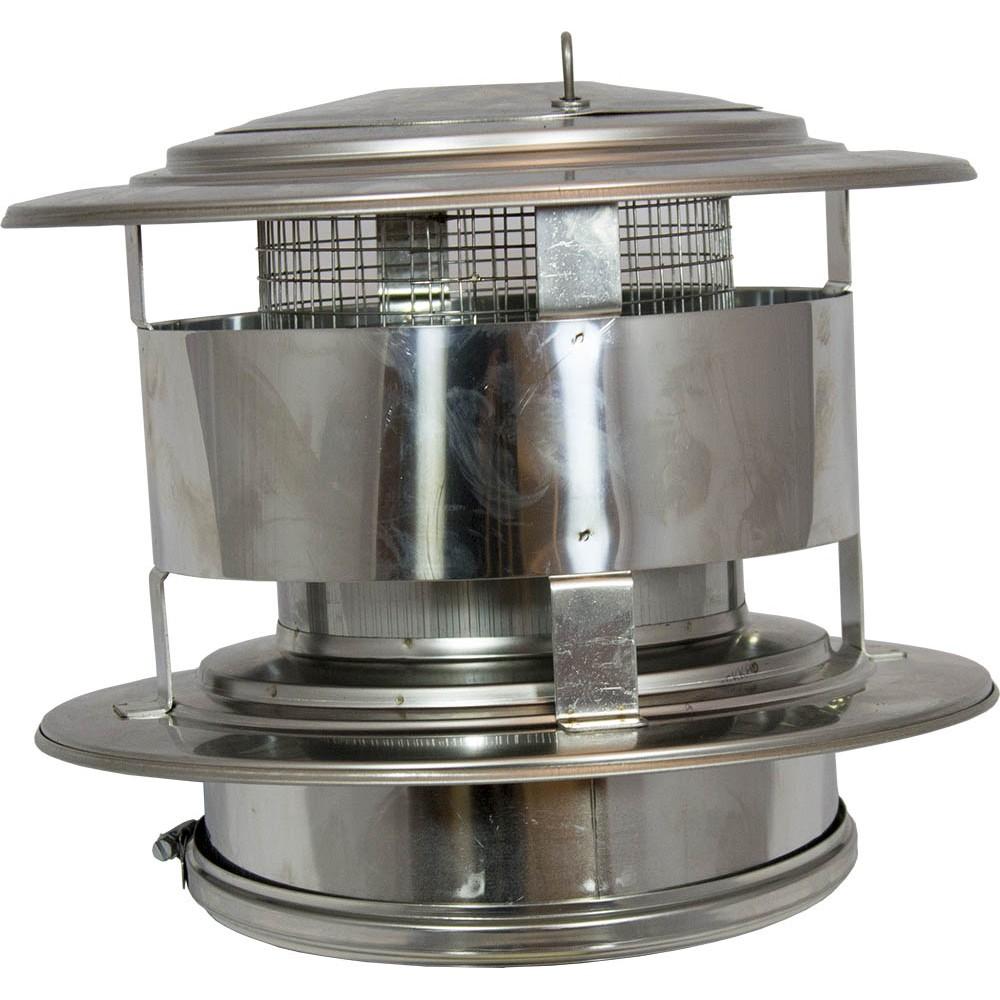 Holetherm 150 200 trekkap met gaas en veegluik for Kachelglas