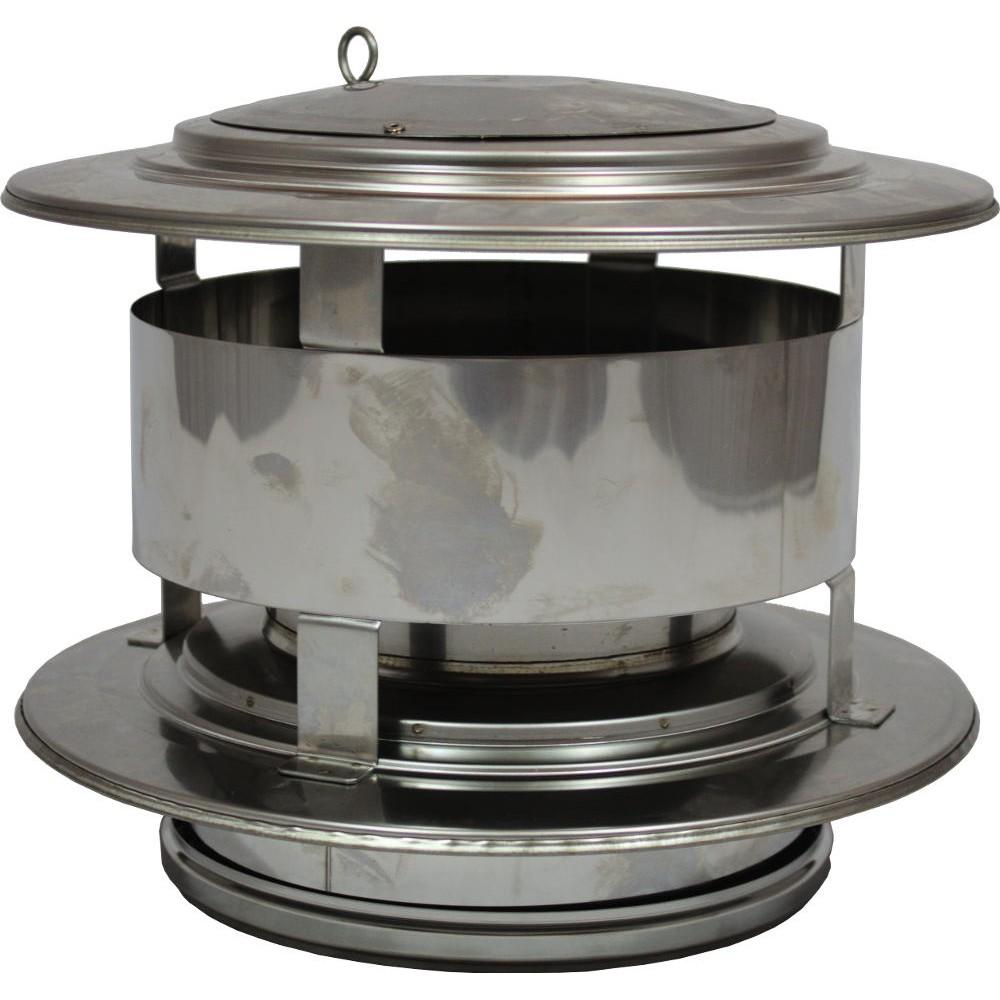 Holetherm 125 175 trekkap met veegluik for Kachelglas
