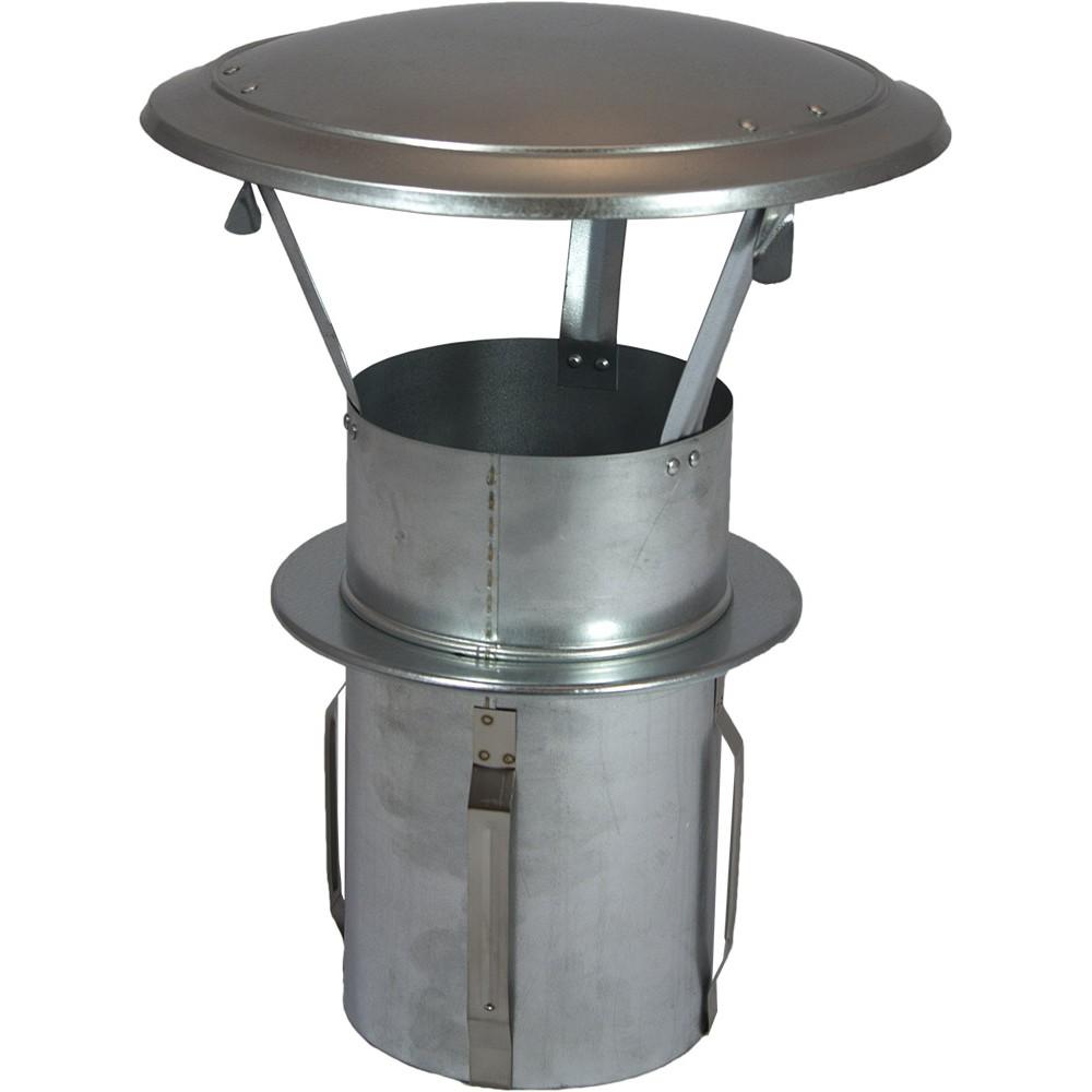 Gegalvaniseerde regenkap zelfklemmend 100 mm for Kachelglas