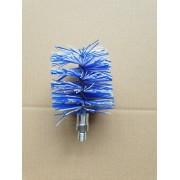 Nylonborstel blauw/wit