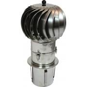 Turbowent draaikap 150 mm insteek
