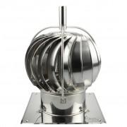 Turbowent draaikap 150 mm bodemplaat met externe lager